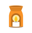 aroma lamp and scented candle icon for spa vector image vector image