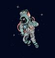 astronaut in spacesuit cosmonaut in space on the vector image vector image