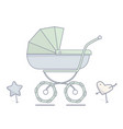 baby stroller flat linear vector image vector image