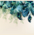 background with blue realistic feathers