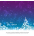 beautiful christmas greeting card design vector image