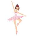 beautiful dancing ballerina isolated on white ba vector image vector image