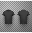black t shirt front and back view realistic vector image