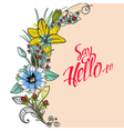 bouquet flowers daisies and asters on white vector image