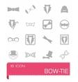 bow-tie icon set vector image vector image