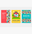 business elements cards set marketing template of vector image vector image