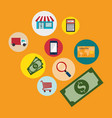 buy on line set icons vector image vector image