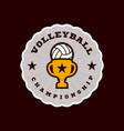 champion volleyball logo modern professional vector image vector image