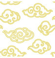 chinese cloud line seamless wallpaper vector image vector image