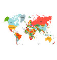 colorful hi detailed world map complete with all vector image vector image