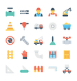 construction colored icons 4 vector image