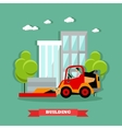 Construction site concept banner vector image