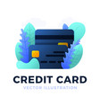 credit card stock isolated on white background vector image vector image