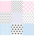 cute set of baby seamless patterns vector image vector image
