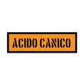 cyanic acid stamp in italian vector image