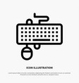 device interface keyboard mouse obsolete line icon vector image vector image