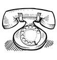doodle phone retro vector image vector image