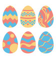 easter eggs set isolated group vector image vector image