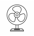 Electric table fan icon outline style vector image vector image