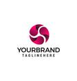 energy rotates logo design concept template vector image