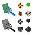 excitement casino game and other web icon in vector image vector image
