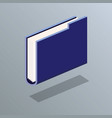 file folder isometric icon vector image