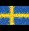 Flag Sweden vector image