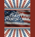 fourth july greeting card vector image vector image