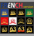 french set of number 63 templates vector image