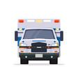 front view ambulance car vector image vector image