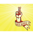 get lucky tattoo design hand with crossed fingers vector image vector image