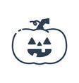 halloween pumpkin icon line art halloween vector image vector image