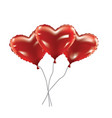 heart foil balloons vector image