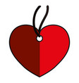 heart pendant necklace vector image vector image