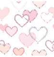 heart seamless pattern valentine day card holiday vector image vector image