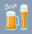 image of mugs of beer glass drinks with a lot of vector image