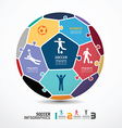 infographic Template with soccer jigsaw banner co vector image vector image