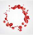 isolated red streaming blood cells vector image