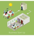 Isometric Business Start Up Creative Team vector image