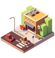 isometric post office vector image vector image