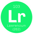 Lawrencium chemical element vector image vector image