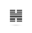 Letter H barcode logo icon design template vector image vector image