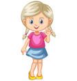 little girl waving hand vector image vector image