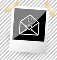 mail with tulip vector image vector image
