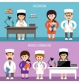Medical office Children vaccination vector image