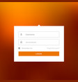 modern white login user interface form design vector image vector image