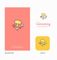 mushroom company logo app icon and splash page vector image vector image