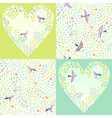 Pattern birds set vector image vector image