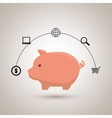 piggy buy store buy vector image vector image