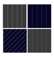pinstripe collection seamless pattern set vector image vector image